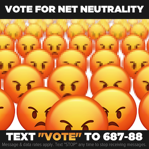 Vote for Net Neutrality 300 x 300 image